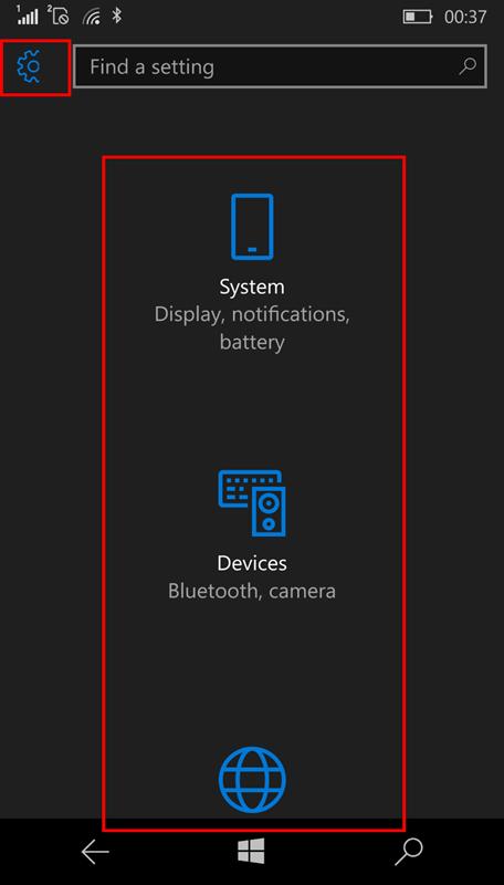 lumia 950 broken_settings_view