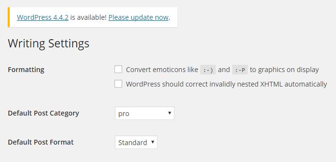 Opcje formatowania WordPress przed 4.3