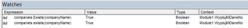 Obrazek pokazuje, że mimo iż VBA rozpoznaje wielkość liter tutaj nie ma to znaczenia