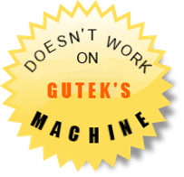 Doesn't work on Gutek's machine
