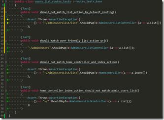 Testy routingu bez domyślnego routingu