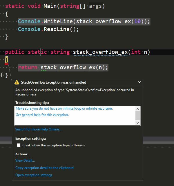 StackOverflowException
