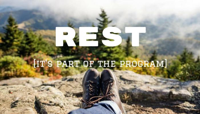 REST [it' part of the program]