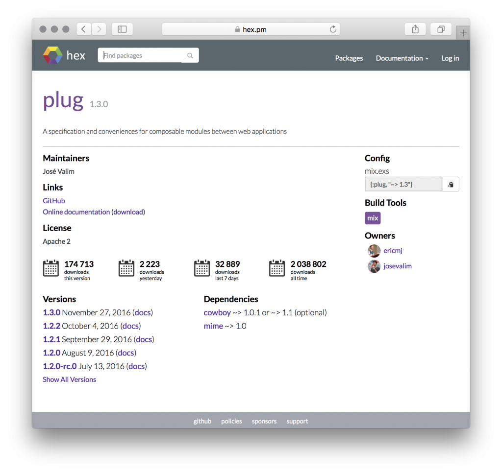 HEX - Package Manager for Elixir