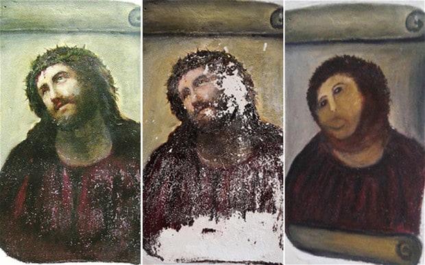 'Ecce Homo' fresk Jezusa