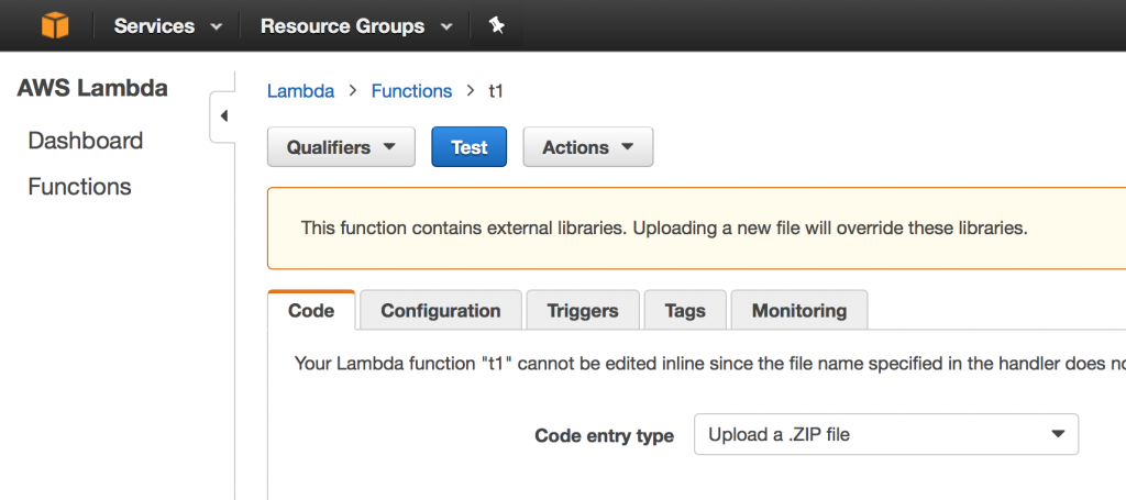 AWS Lambda - Function View