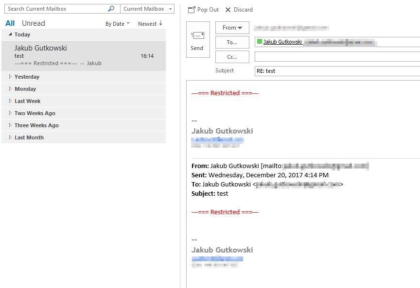Inline Response Outlook 2016